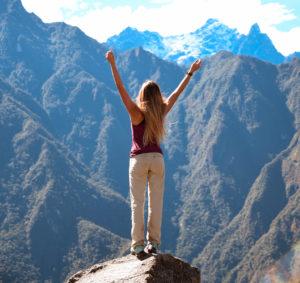 viajando sola en Machu Picchu