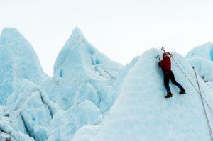 crampón en glaciares