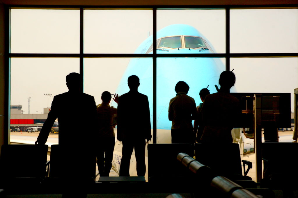 Sala de espera en el aeropuerto Jorge Díaz