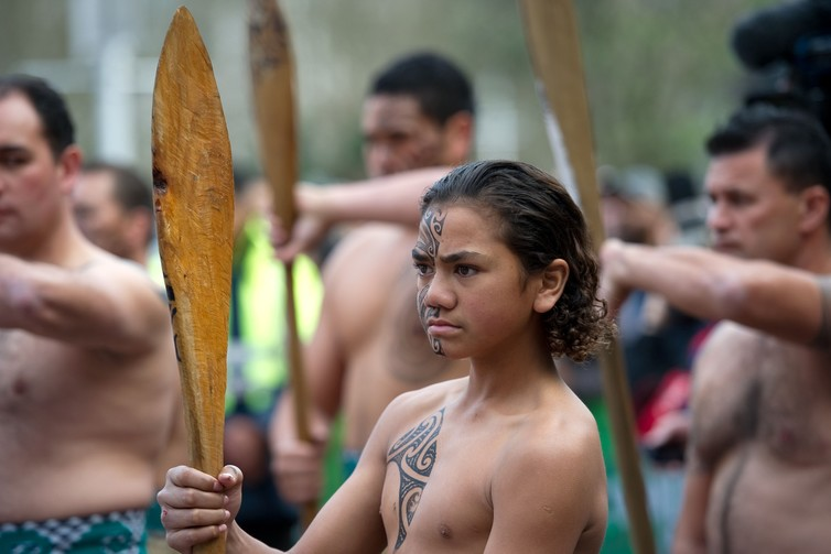 niño maorí Nueva Zelanda