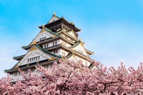 Japon, castillo de Osaka