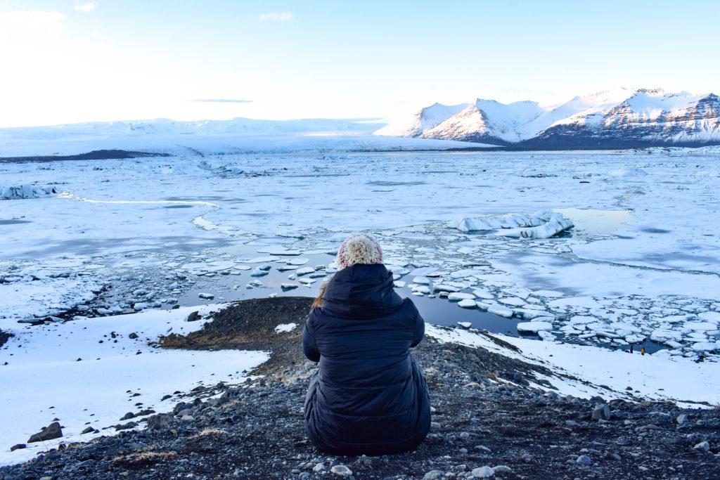 Islandia lago, viajar sola