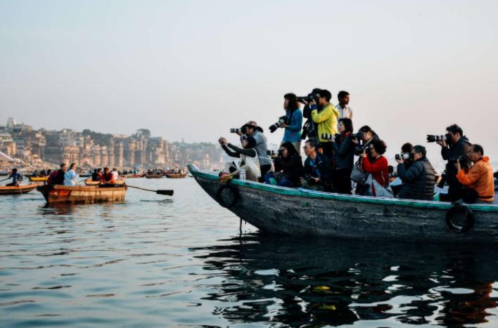 Una de las fotografías tomadas por Guillermo Gutiérrez en su viaje a Varanasi, India