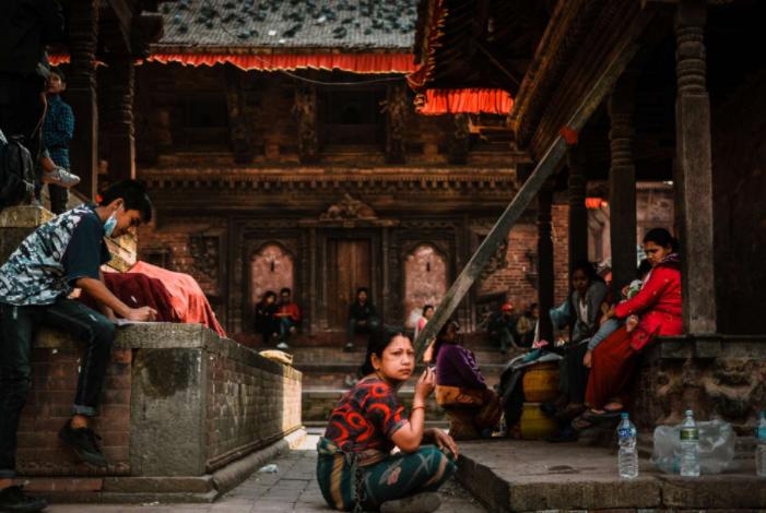 Una de las fotografías tomadas por Guillermo Gutiérrez en su viaje a Katmandú, Nepal
