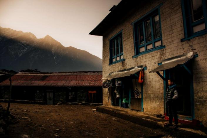 Una de las fotografías tomadas por Guillermo Gutiérrez en su viaje a Lukla, Nepal