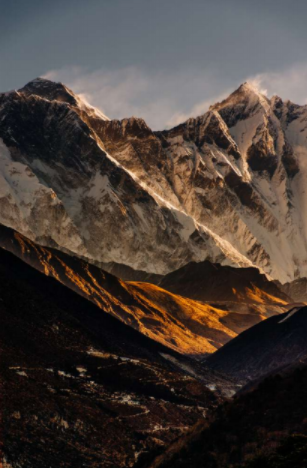 Una de las fotografías tomadas por Guillermo Gutiérrez en su viaje a Everest, Nepal