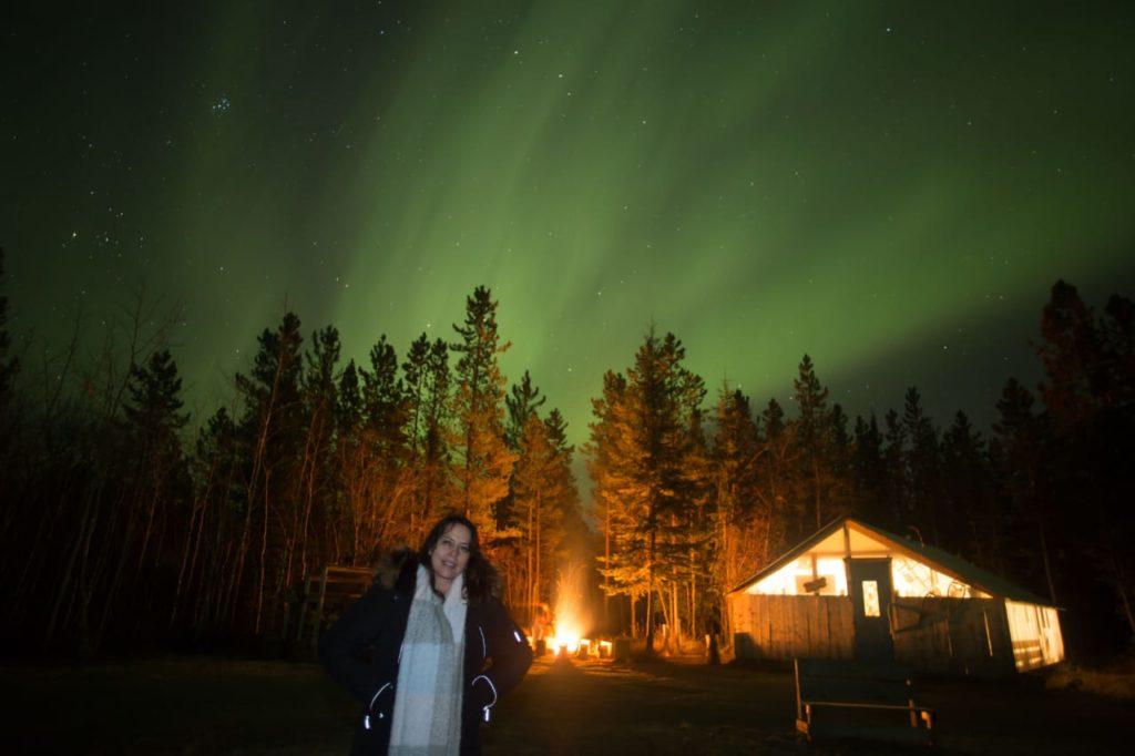 Mamá de Claudia conociendo las Auroras Boreales
